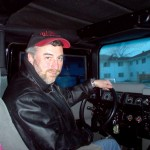 Tony De Falco behind the wheel of a HUMMER H1